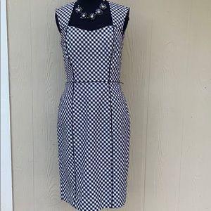 White House Black Market  slip / gingham dress
